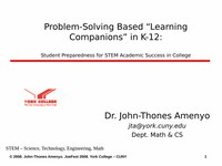 """Problem-Solving Based """"Learning Companions"""" In K-12"""