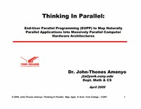 Thinking in Parallel: End-User Parallel Programming (EUPP) of Multi-Core Computers