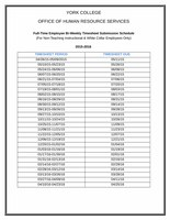 White Collar Timesheet Submission Schedule 2015-2016