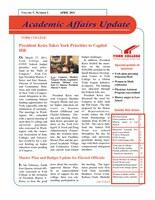 On Academic Affairs Update April 2011