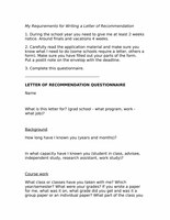 My Requirements for Writing a Letter of Recommendation.rtf