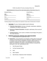 Memorandum of Evaluation and Discussion