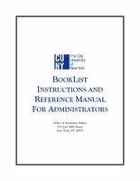 Booklist Instructions And Reference Manual For Administrators
