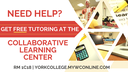 Sept. 12th: Free Tutoring at the Collaborative Learning Center Resumes!