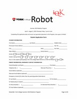 Summer Student Application Form for K6-12 students RobotiQK