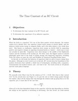 Time Constant of an RC Circuit