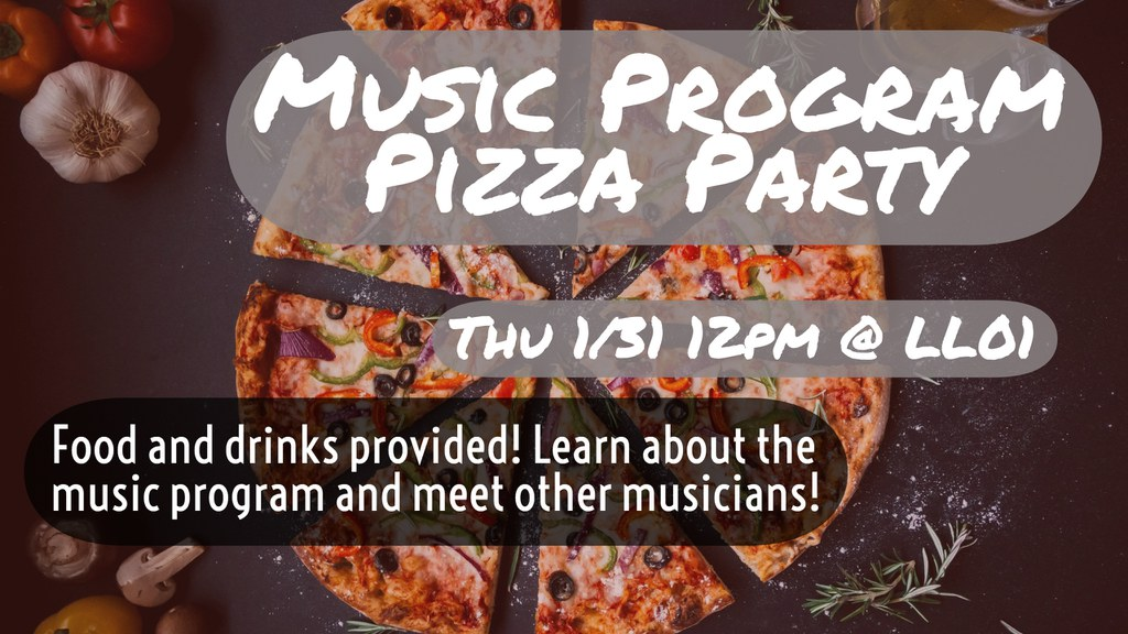 The York College Music Program hosts our beginning-of-semester pizza party!
