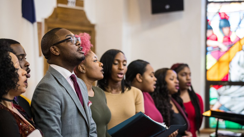 York College Gospel Choir in performance, Fall 2017