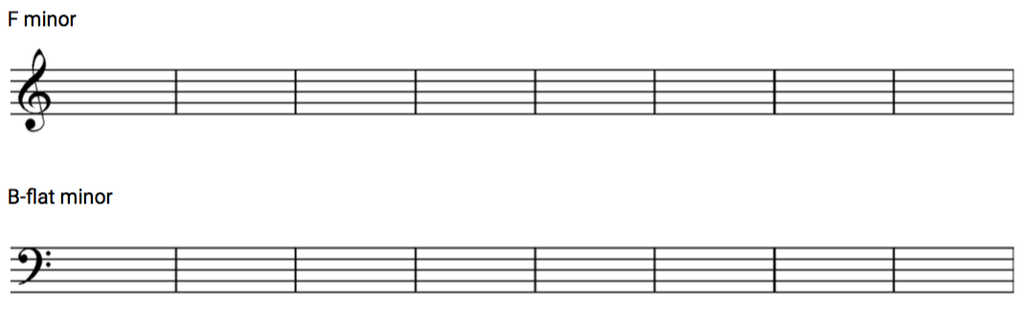 Example for the Minor Scale exercise.