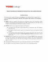 Request For Approval Of Compensated Overtime For Full-Time Classified Employees