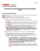 Instructions to Review Why Requisition Failed Budget Check