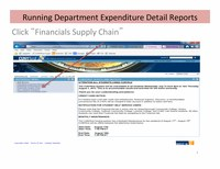 Running Department Expenditure Detail Reports