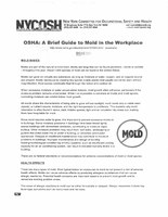 OSHA - A brief guide to mold in the workplace