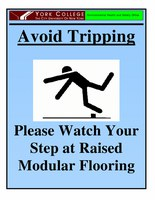 Avoid Tripping  and Slipping Poster