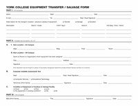 Equipment Transfer-Salvage Form Part I
