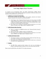 York College Right to Know Procedures 2008