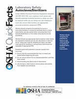 OSHA Quick Facts About Autoclaves and Sterlizers