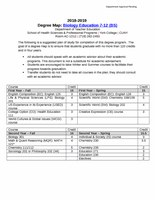 Biology Education 7-12 (BS)