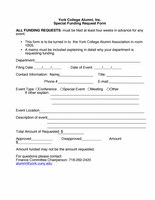 Special Funding Request Form