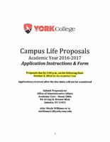 Campus Life Proposals