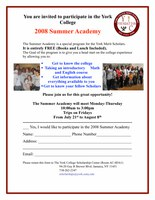 Invite for 2008 Academy