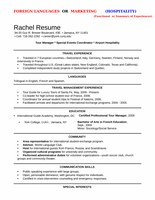 Foreign Languages or Marketing Resume