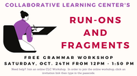 CLC Run-Ons and Fragments Workshop