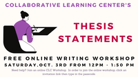 CLC Thesis Statement Workshop [Fall 2020]