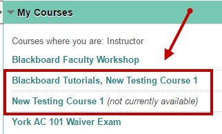 Updated courses