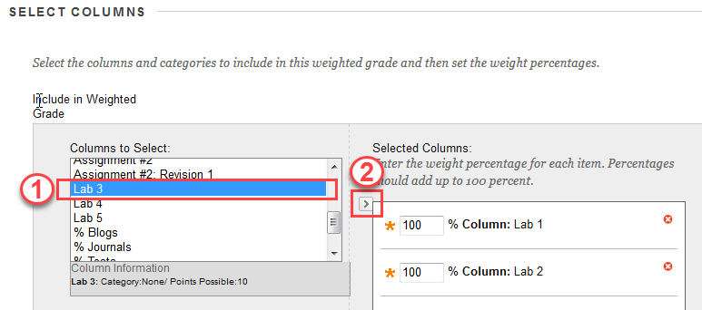 Add assignment to Selected Columns