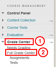 Go to Full Grade Center