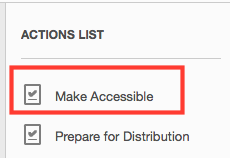 action to make accessible