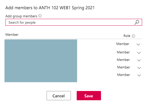 save members to group