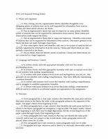 ENG 126 Checklist Rubric for Research Writing Assignments