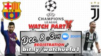 FC Barcelona vs. Juventus FC Watch Party