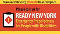 Ready New York: Emergency Preparedness for People with Disabilities