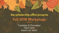 Scholarship Workshop: Studying Abroad & How to Financially Prepare with Scholarships