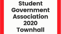 Student Government Association 2020 Townhall