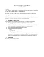 Minutes for November 19, 2020 meeting