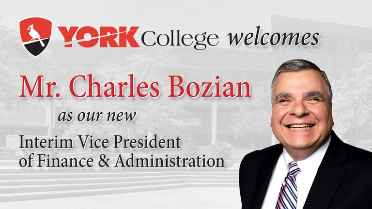Charles Bozian, New Interim Vice President of Finance and Administration