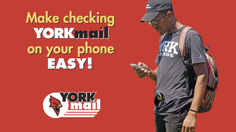 Set yourself up for success at York. Check your Yorkmail make it a habit!