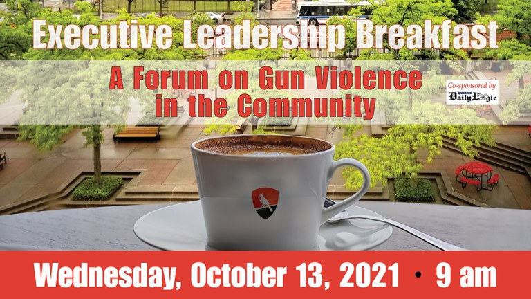 Save the date Executive leadership breakfast for October 13th, 2021 at 9AM