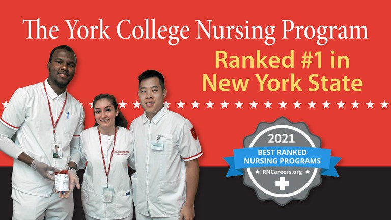 York College Nursing Program ranked #1 in New York and is one of the best nursing schools in the nation with an impressive average NCLEX first-time passing rate of 98.13% for the last three years