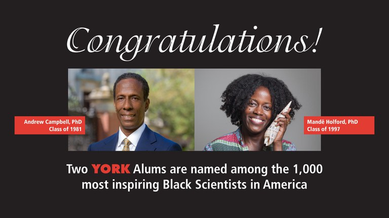 Two York Alums are named among the 1,000 most inspiring Black Scientist in America.