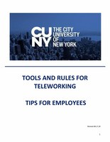Tools and Rules for Teleworking (Employees)