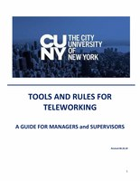 Tools and rules for teleworking