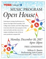 York College Music Open House Flyer
