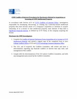 Acquisition Licensing of CUNY IP