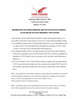 Information For Undocumented And Out-Of-Status Students  To Establish In-State Residency For Tuition