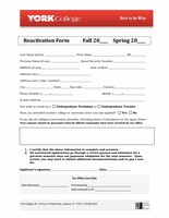 York Admissions Reactivation Form